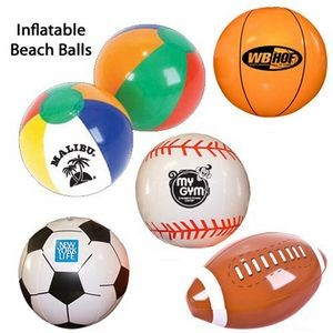 Inflatable Ball Group-Beach Ball, Football, Baseball, Basketball, Soccer