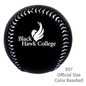 Official Size Baseball In Fashionable Colors - Black