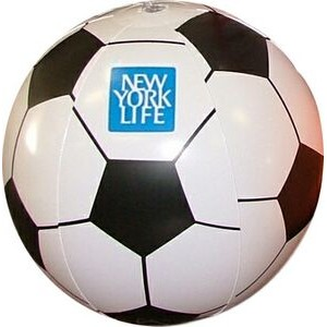 "Large 16"" Inflatable Sports Beach Ball (Soccer)"
