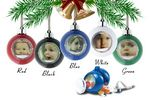 Custom Pastic Water Dome Ornaments with Snow & Glitters (1-15/16