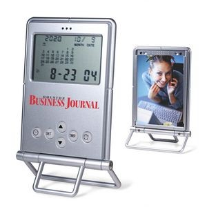 Digital Desk Alarm Clock with Calendar, Timer and Photo Frame