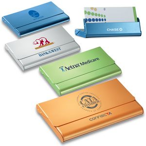 Metal Business Card Case & Desktop Card Holder (2-in-1 Function)