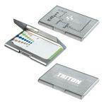 Custom Brushed Silver Stainless Steel Business Card Case