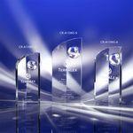 Custom Global Edge Crystal Globe Award 9