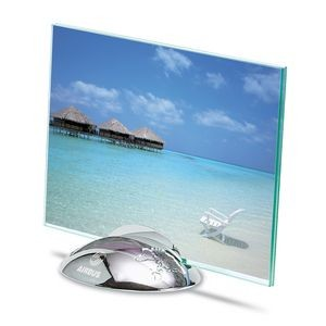 "Silver Plated World Globe Photo Frame (4"" x 6"" Photo)"