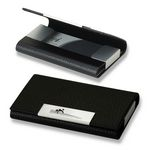 Custom Black Business Card Case with Magnetic Closure