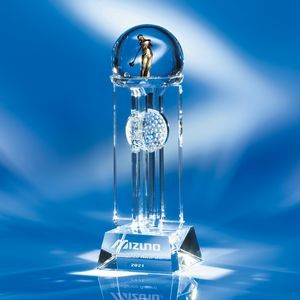 "Top Of The World Crystal Golf Award 15""H"