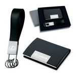 Custom 2 Piece Gift Set - Leather Card Case and Leather Key Ring