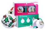 Custom Plastic Water Dome Ornaments with Snow & Glitters (1-15/16