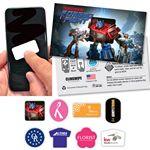 Custom Clingwipe Full Color Microfiber Sticky Screen Cleaner 1.6 x .8
