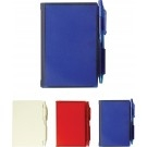 Custom Hard Cover Note Pad with Pen