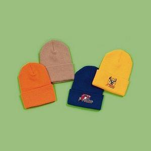 Fine Rib Acrylic Knit Cuff Hat, Knit Cuff Cap