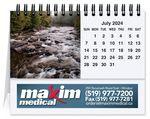 Custom Scenic Water Tent Desk Calendar