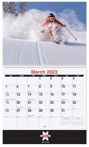 10 5/8x18 1/4 Custom 13 Photo Wall Calendars w/ Coil Bound