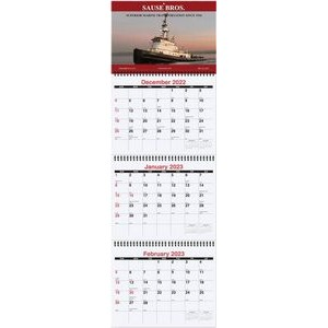 "Large Three Month at a Glance Calendars (10 3/4""x33 3/4"")"