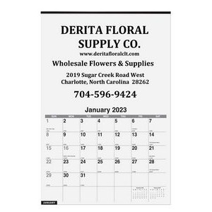 "Monthly Wall Calendars w/1 Image (12 1/4"" x 18 1/2)"