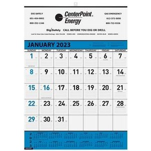 "Blue Contractor Calendars w/1 Image (18"" x 25"")"