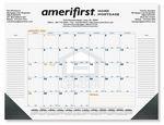 Custom Calendar Desk Pads (Blue & Gold Pre-printed Calendar)