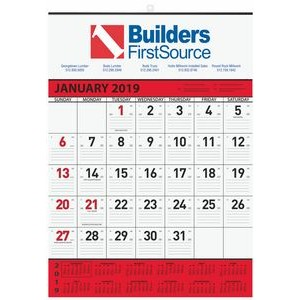 "Monthly Wall Calendars w/1 Image & 2 Color Imprint (18""x25"")"