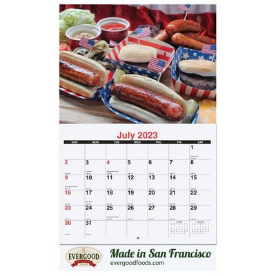 Custom 13 Photo Wall Calendars w/Stapled Bound (10 5/8