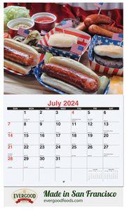 10 5/8x18 1/4 Custom 13 Photo Wall Calendars w/ Stapled Bound