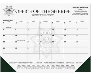 21 3/4x17 Black Calendar Desk Pads