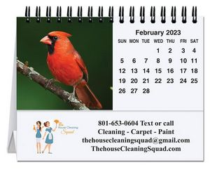 Bird Watching Tent Desk Calendar