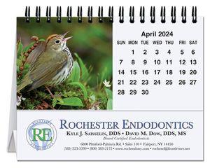 5 13/16x4 1/2 Bird Watching Tent Desk Calendar