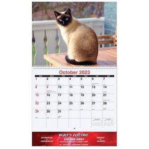 "Furever Friends Monthly Wall Calendars w/Coil Bound (10 5/8""x18 1/4"")"