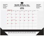 Custom Calendar Desk Pads (Red Preprinted Calendar) 1 or 2 Color