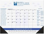 Custom Calendar Desk Pads (Blue Pre-Printed Calendar) 1 or 2 Color