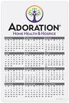 Custom Year at a Glance Calendar Cards (12