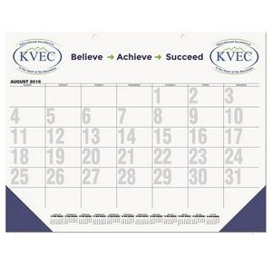 "Black Calendar Desk Pads w/One Color Imprint (21 3/4""x17"")"