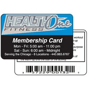 "Heavy Laminated Membership Card (2-1/8""x3-3/8"")"