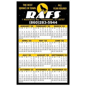 "Calendar Card w/Repositionable Strip (3-1/2""x5-1/2"")"