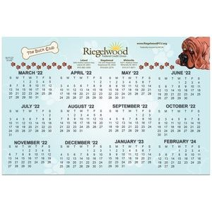 "Calendar Card with Repositionable Strips (12""x18"")"
