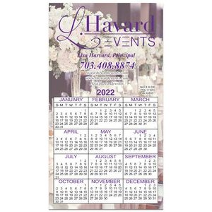 "Calendar Card W/ Repositionable Tape on Back (5""x9"")"