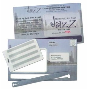 "Laminated Mail Card w/ Luggage Tag and Strap (4-1/2""x7-1/2"")"