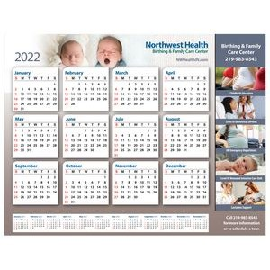 2-in-1 Repositionable Wall Calendar w/ Monitor Strip Calendar