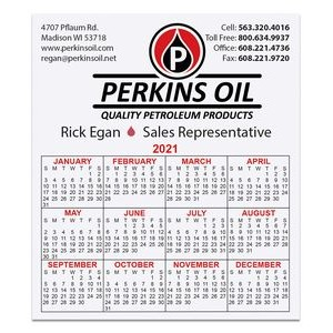 "Calendar Card w/Repositionable Strip (3-1/2""x4"")"