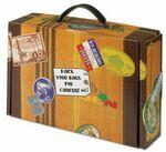 Custom Themed Handled Suitcase Shaped Box (9-3/4