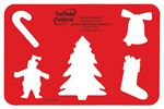 Custom Stock Holiday Stencil w/Christmas Cutouts - 1 Color
