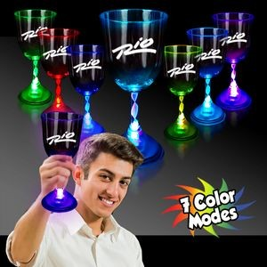 10 Oz. Light-Up Wine Glass with Clear Base