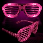 Custom Pink Light-Up Slotted Eyeglasses