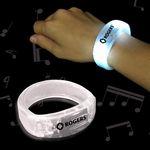 Custom White Soundsation Light-Up Bangle Bracelet