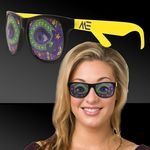 Custom Mardi Gras Eyes Yellow Billboard Sunglasses