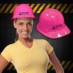 Custom Pink Plastic Novelty Construction Hat