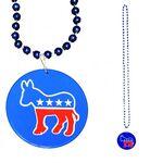 Custom Democrat Bead Necklace