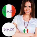 Custom Italian Flag Plastic Medallions - 2 1/2