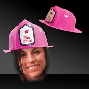 Pink Plastic Firefighter Hat